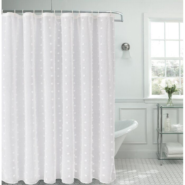House of Hampton Liah Snow Flower 3D Puff Single Shower Curtain & Reviews | Wayfair