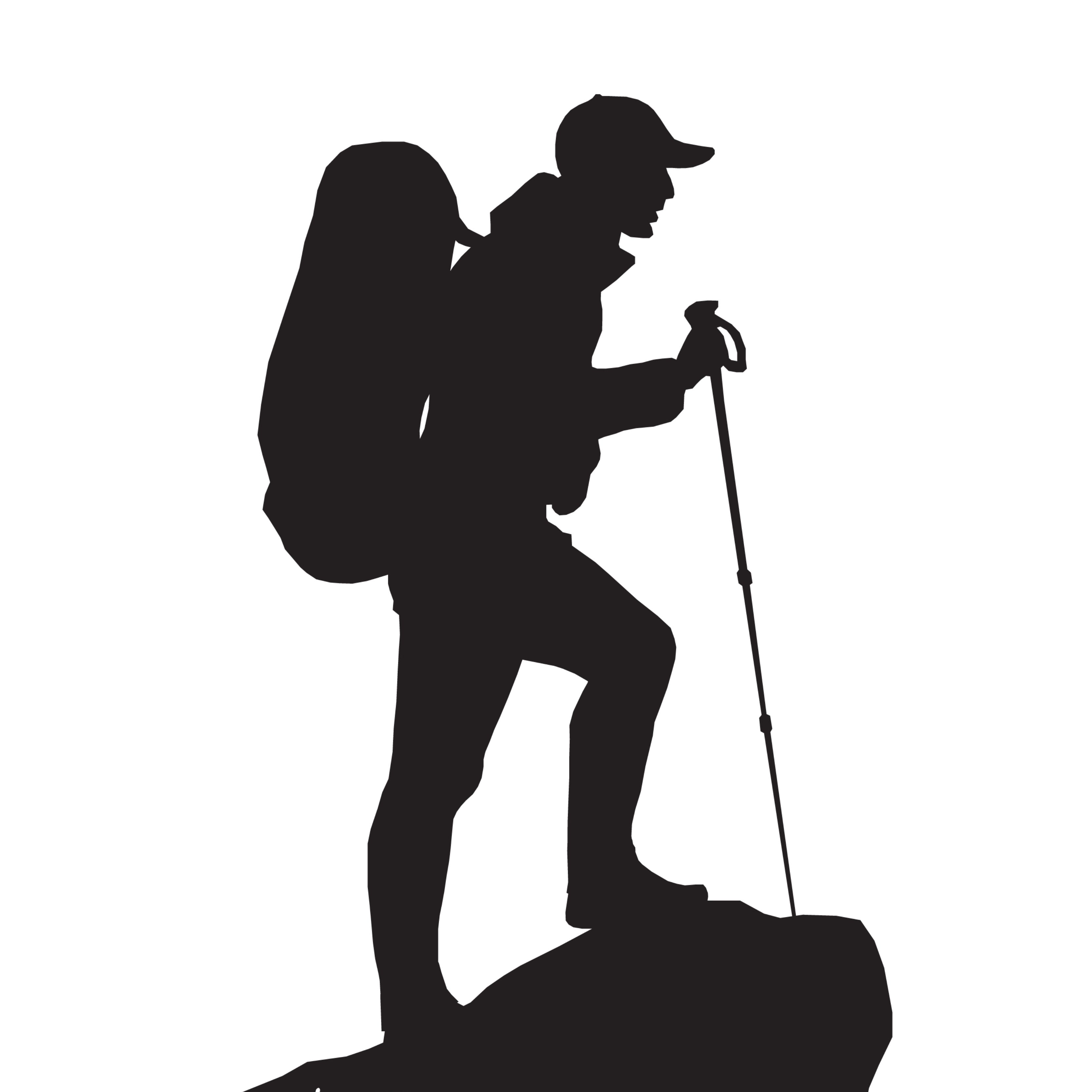 Satire Commentary Satirical Commentary Silhouette Hiking