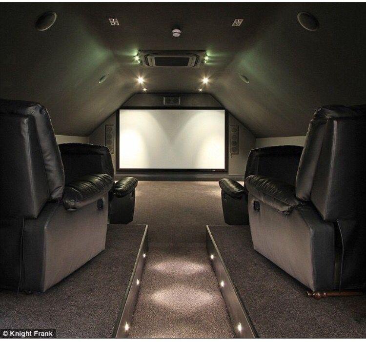 Attic Media Room Idea Cinema Room Small Movie Room Home Cinema Room