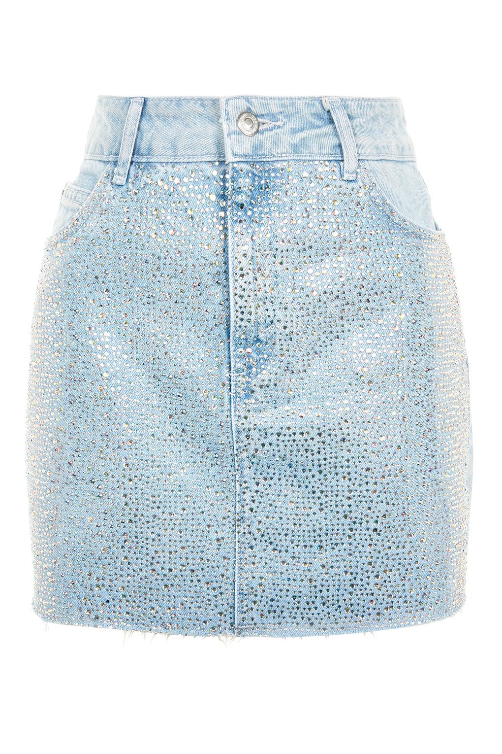 42dfdd3647 Diamante Denim Skirt in 2019 | Jeans | Denim skirt, Denim, Fashion