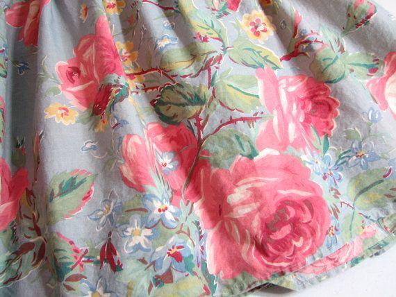 Vintage Ralph Lauren Garden Rambler Twin Size Bed Skirt Dust Ruffle Pink