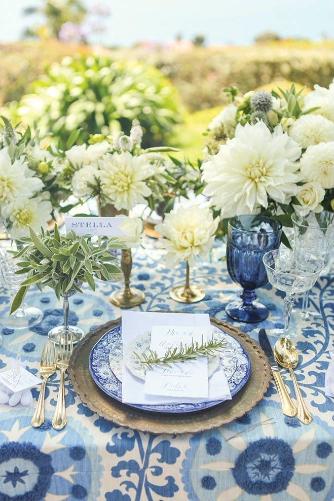 California Wedding Decor An Italian Inspired Styled Shoot With Mediterranean Blues And Creamy Whites