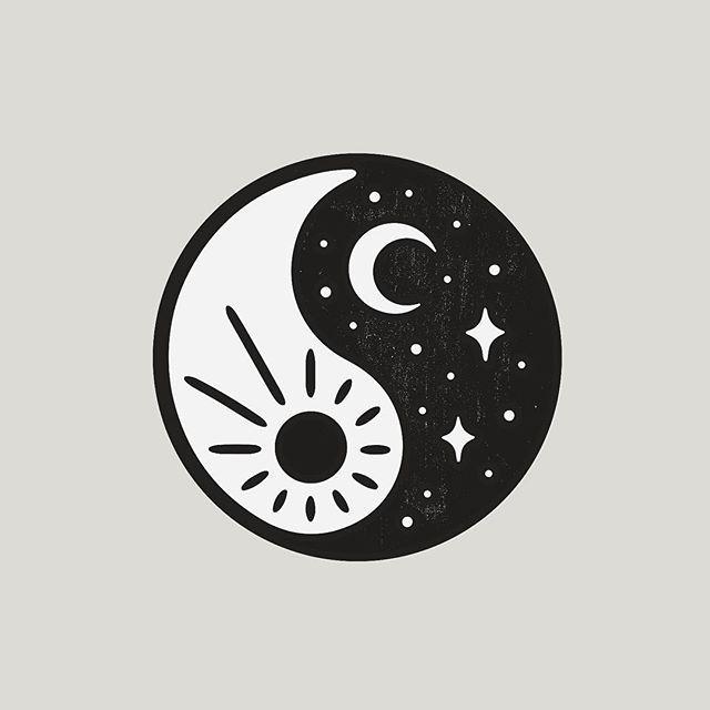 Sun Moon In Yin Yang Two Halves Of One Balanced Whole Yin Yang Art Yin Yang Tattoos Moon Tattoo