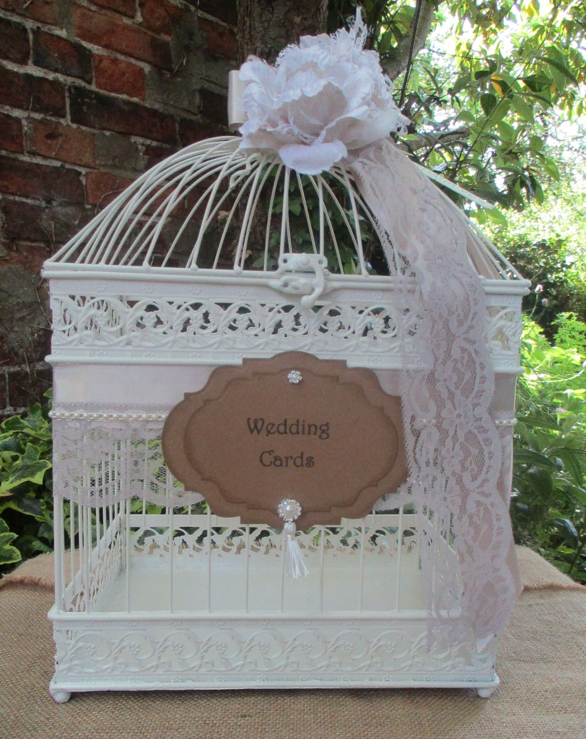 Birdcage Wedding Card Holder Post Box Card Sign Gift Cards