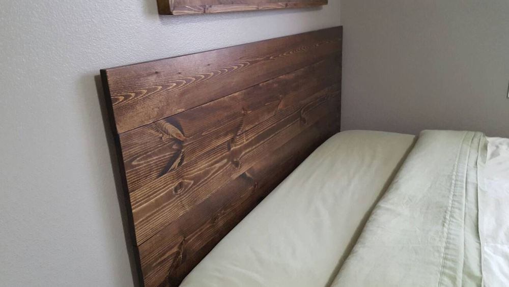 Wood Bed Headboard Wall Mounted Wall Hanging Wooden Rustic Full