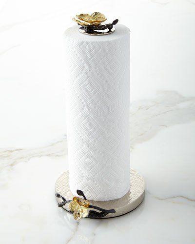 H8f8x Michael Aram Gold Orchid Paper Towel Holder