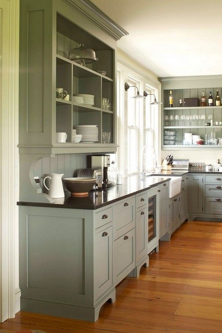 Küchendesign grün  comfortable and elegant farmhouse kitchen cabinets ideas