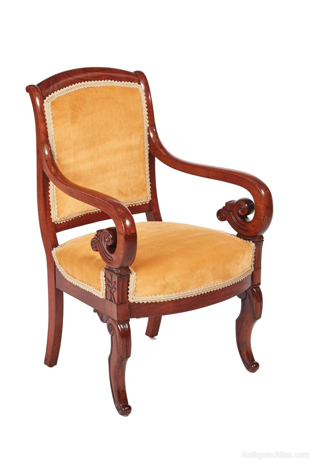 Quality Mahogany Regency Library Chair - Antiques Atlas - Quality Mahogany Regency Library Chair In 2018 Antique Library