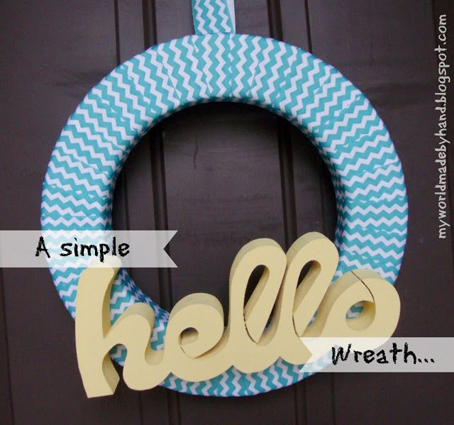 Hello Wreath from My World Made By Hand