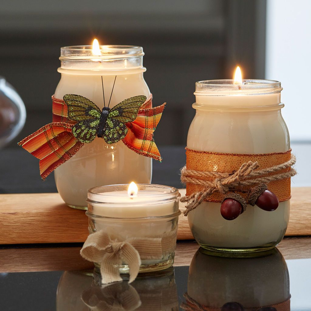Make your own DIY soy candles this season and embellish