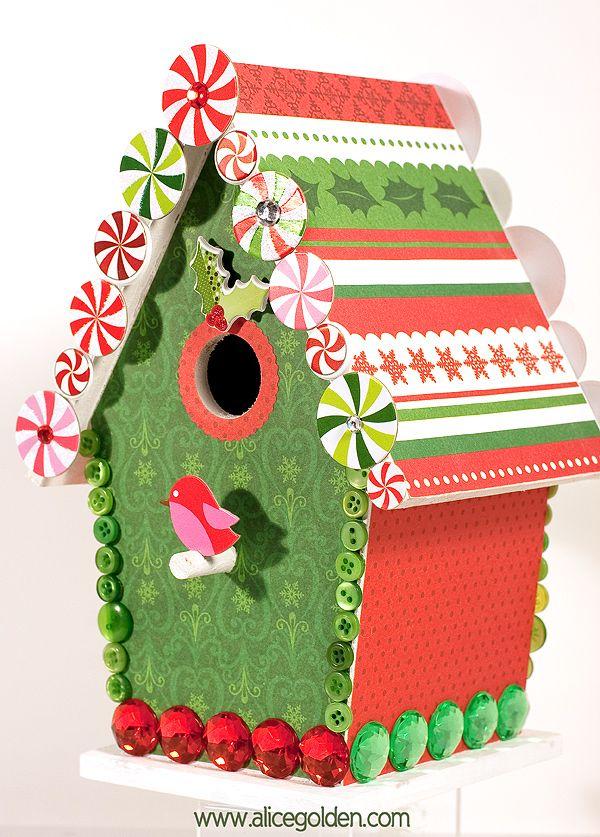 Christmas Birdhouses Crafts.Easy Christmas Birdhouse Christmas Birdhouses Bird