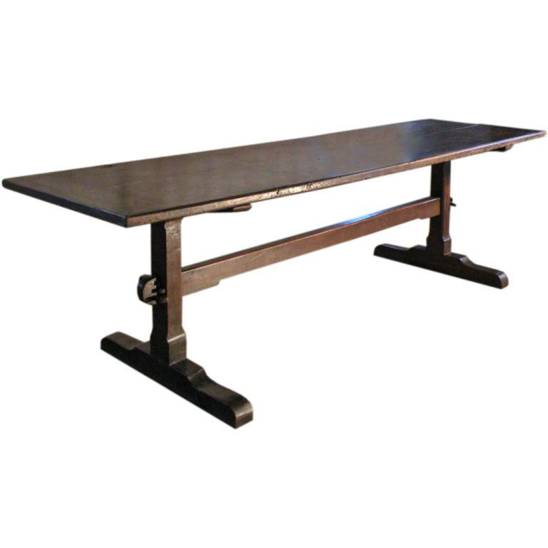 This Is Similar To My 17th Century English Trestle Table I Can Envision Galileo Or Newton Or Shakespeare Hoisting A Pint And Carvi Mit Bildern Esszimmer