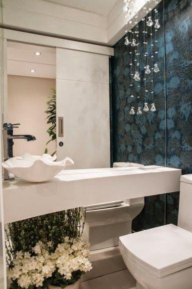 Decor Salteado - Blog de Decoração e Arquitetura  30 Lavabos - lavabos pequeos