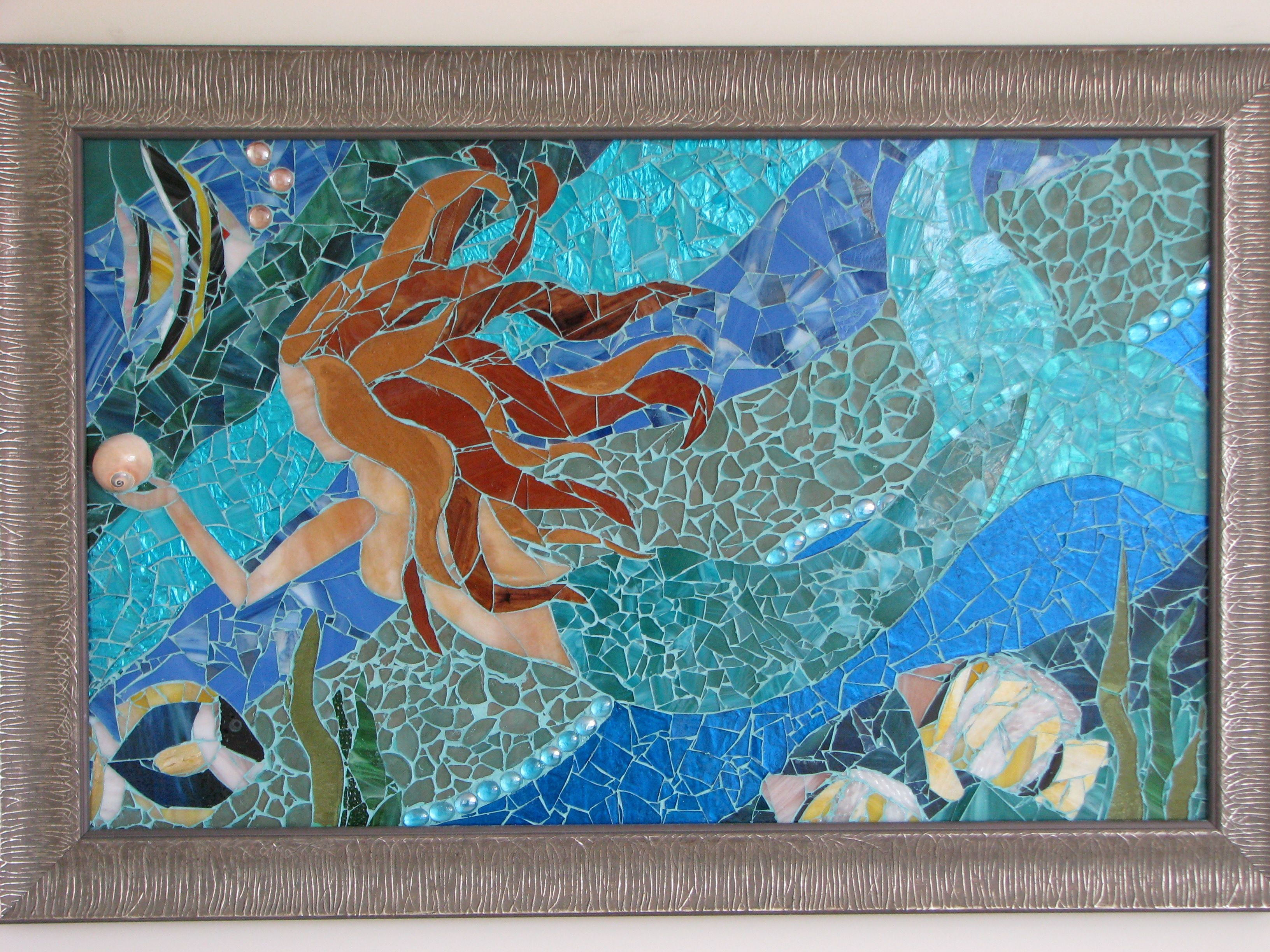 This Is My First Mosaic Made With Stained Glass Tumbled