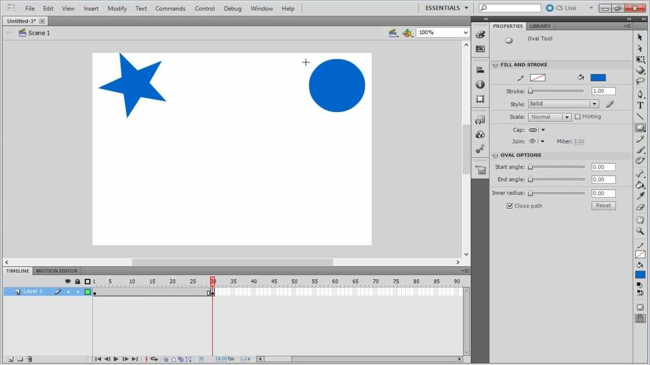 How to create shape tween in adobe flash adobe flash adobe how to create shape tween in adobe flash baditri Gallery