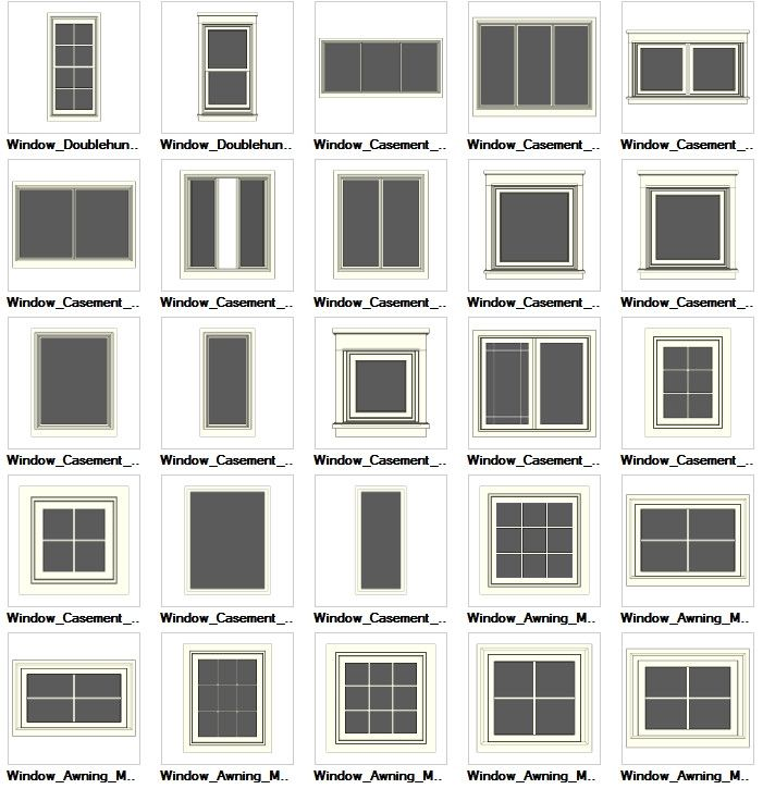 Sketchup windows 3d models download cad design free for Window design cad