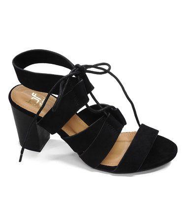 Look at this #zulilyfind! Black Vivian Lace-Up Sandal #zulilyfinds