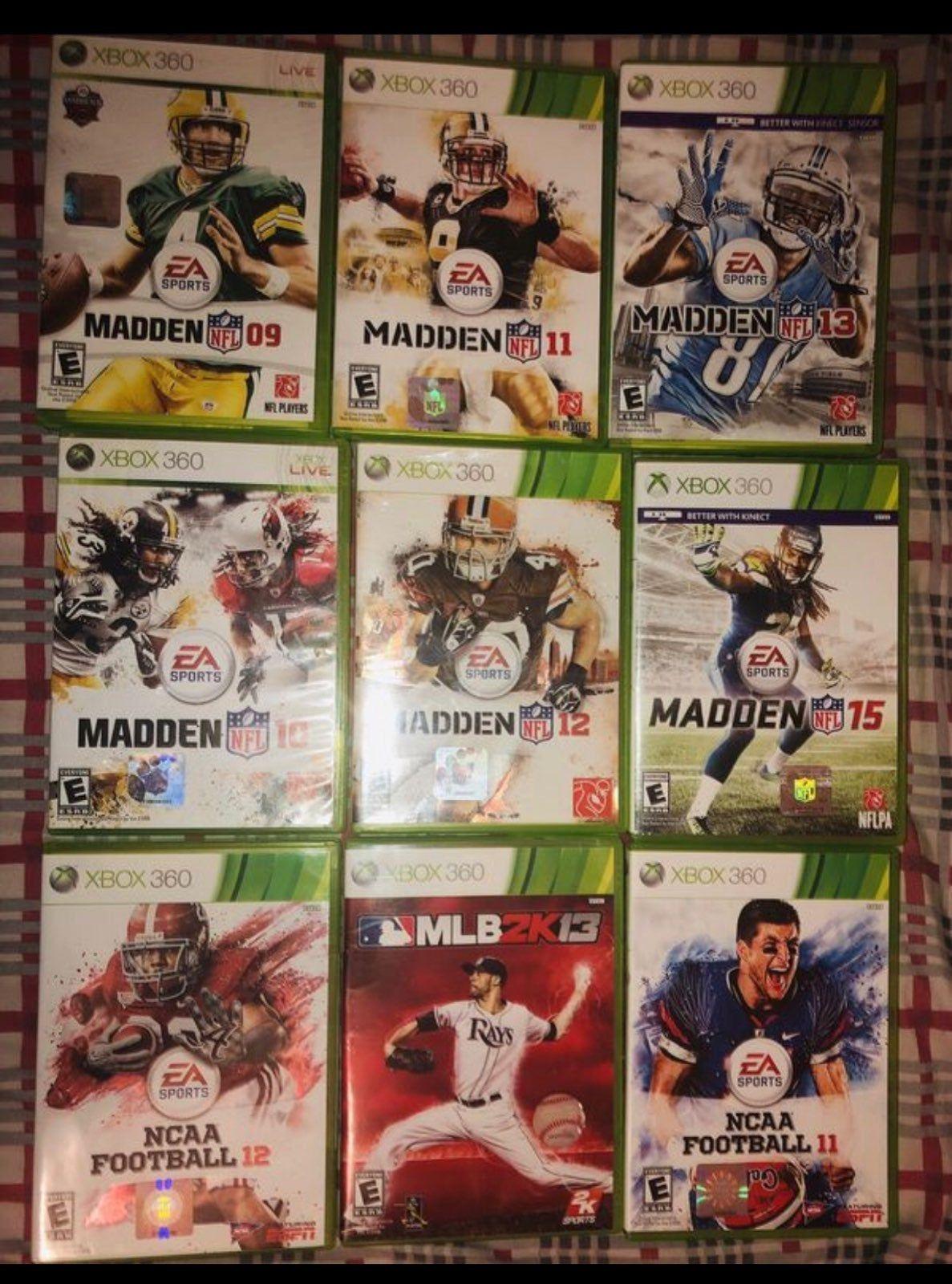 Xbox 360 Football Game Cases Set Xbox Xbox 360 Xbox 360 Games