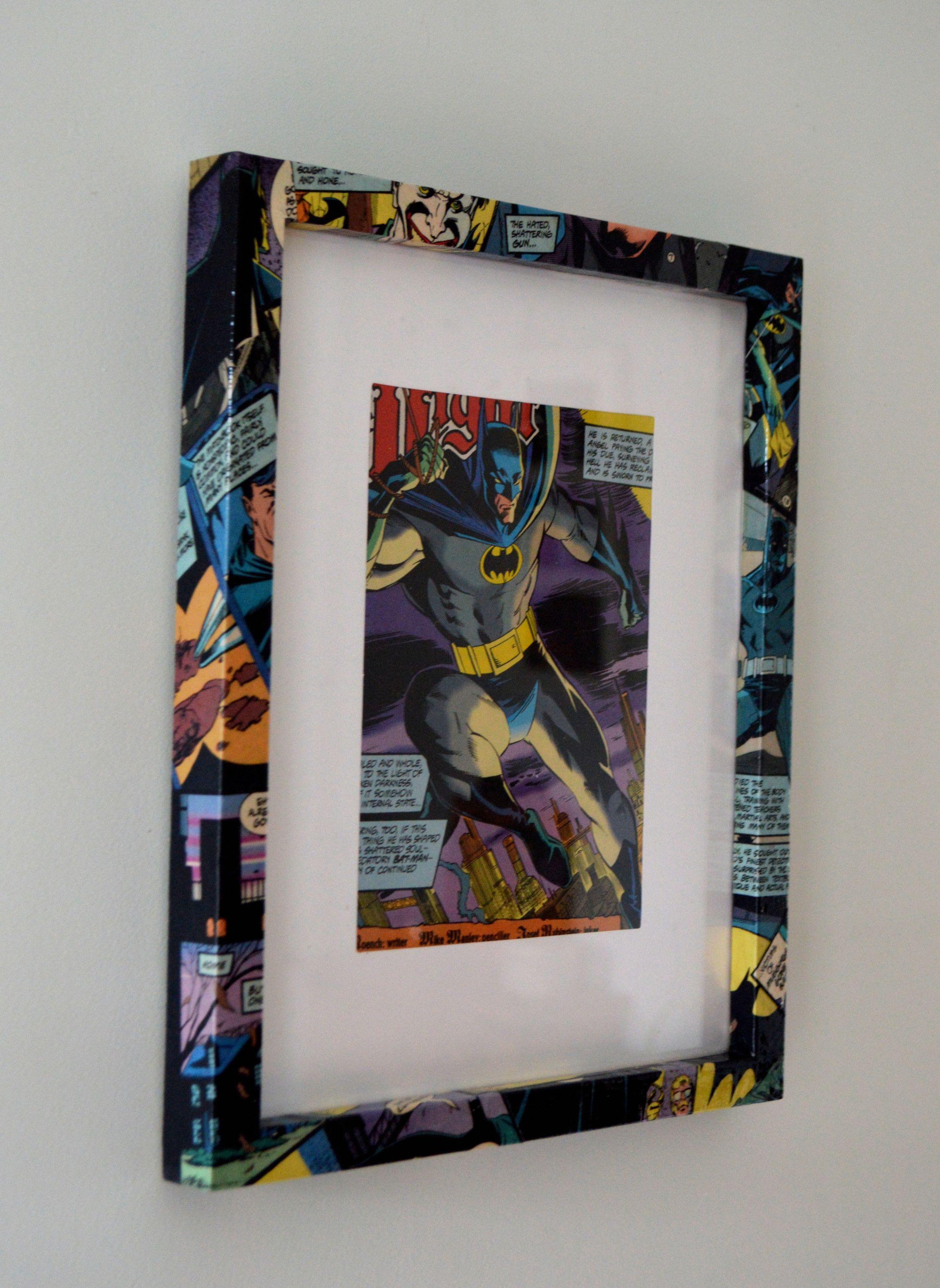 Batman art decoupage frame DC   CRAFTS   Pinterest   Decoupage and Craft