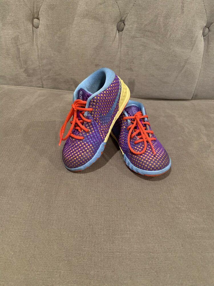 2e5daa7ab585 Nike Kyrie Irving 1 Toddler (Unisex) Lemon Frost Hyper Grape-University Blue