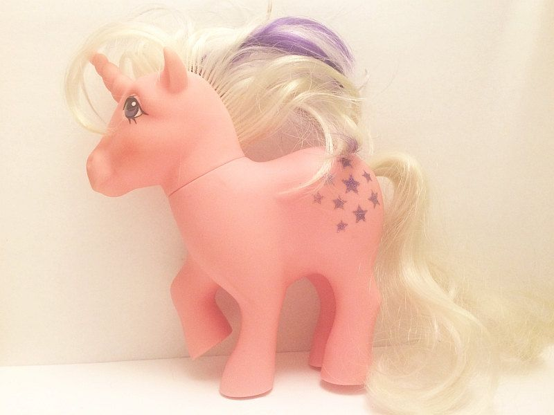 GIDDYUP! I'm SOLDOUT, but there may be more galloping glory in my etsy store!  #MyLittlePony G1 #Twilight Unicorn Pink Toy Sparkle Stars Horse 1983 Hasbro Purple White Mane Hair 1980s #MLP from Soaring Hawk Vintage from #SoaringHawkVintage on #Etsy