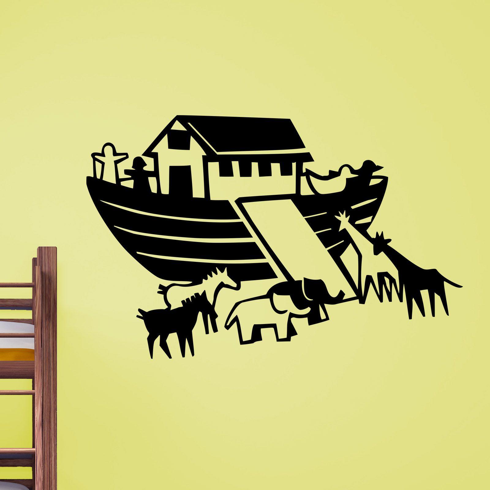 Quality Noahs Ark Regligious Wall Sticker   Silhouette Cameo ...