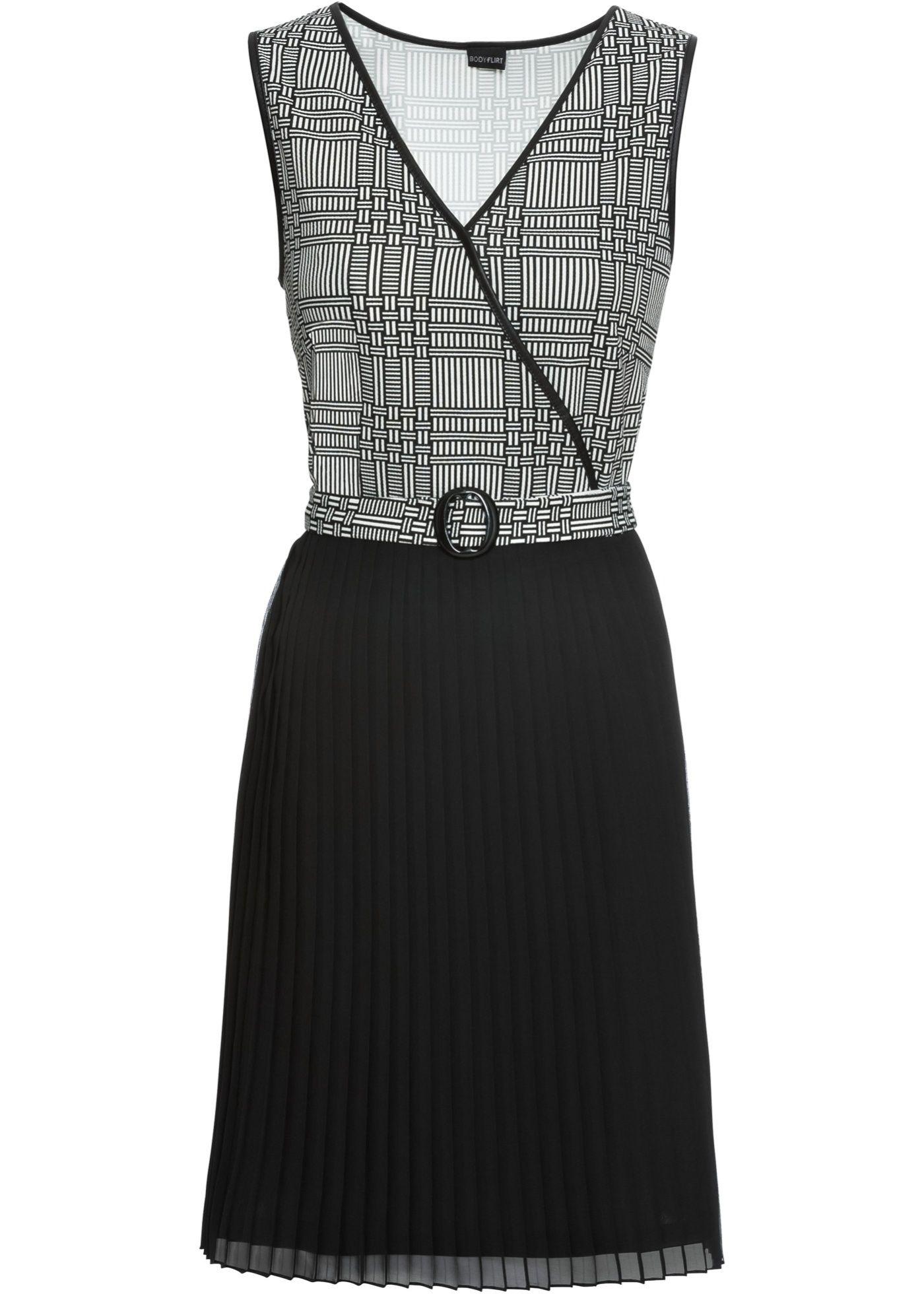 Kleid mit Plisee  Minikleid, Das kleine schwarze, Kleider