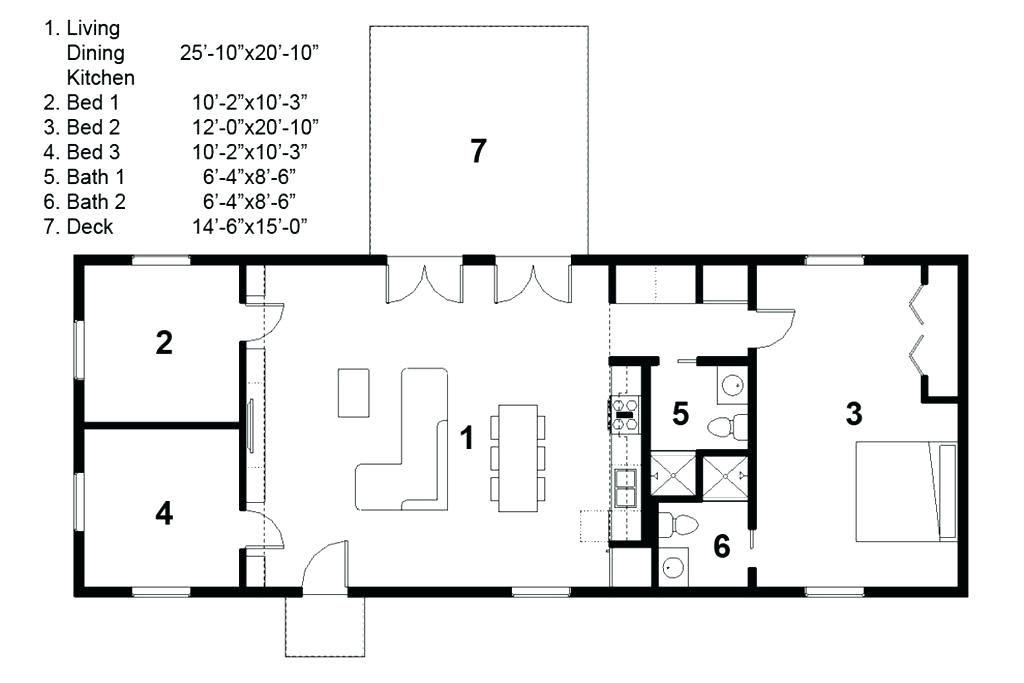 Image Result For 3 Bedroom Rectangular House Plans Rectangle House Plans Modern Style House Plans House Plans Simple rectangle house plan