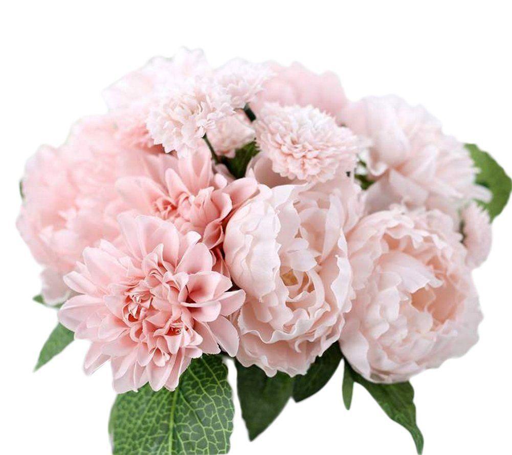 Freedi Artificial Silk Flowers Wedding Dahlia Peony Chrysanthemum