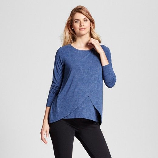 e4d01a09de7 A long sleeve maternity and nursing top that fits now and later. Soft and  stretchy