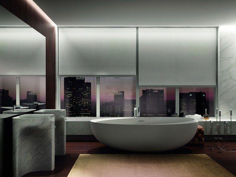 Colombo Bagno ~ Vasca da bagno asimmetrica centro stanza ovale vasca da bagno in