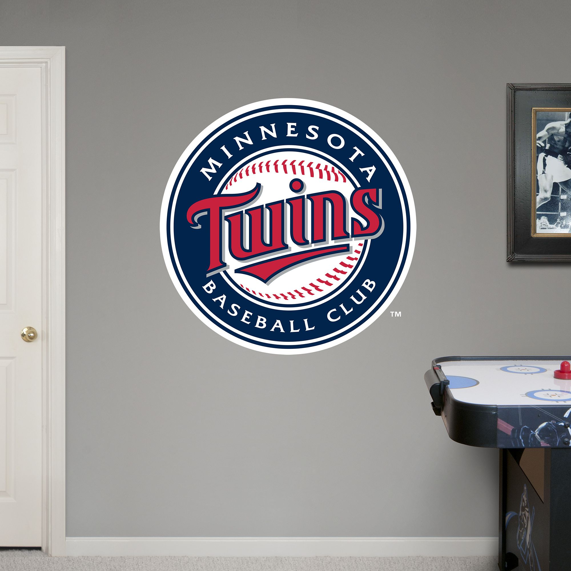 Minnesota Twins Logo Giant Officially Licensed Mlb Removable