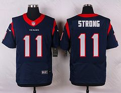 size 40 a317c 7a7a6 Nike Houston Texans #11 Jaelen Strong Blue Elite Jersey ...