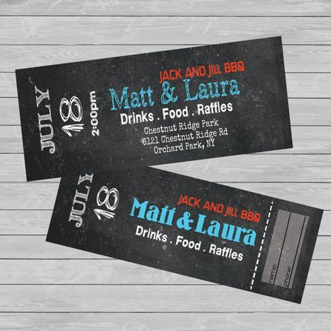 Food Tickets Template Tickets  Entryjack And Jill  Stag  Fundraiser  Custom  Print .
