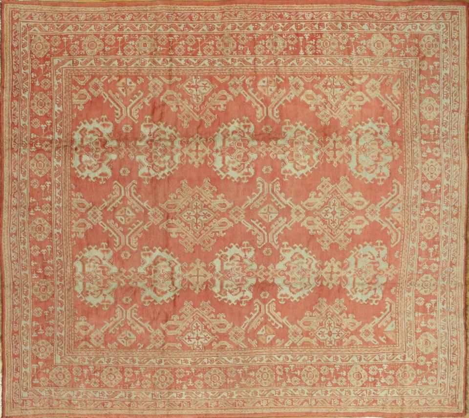 Rug 10221719 Title Antique Oushak Over Size Description All Over Rust Weight Pounds 0 00 Style Oushak Size With Images Antique Oushak Rugs Custom Rugs