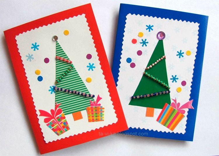 Своими руками сделать открытку новогоднюю, контакте открытки