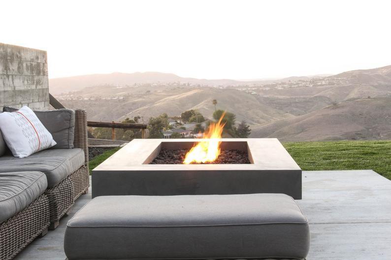 Olson Fire Table Concrete Firepit Feuerstelle Beton Feuerstellen Feuerstelle Garten