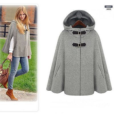 7ce15bc2c517 Fashion-Womens-Batwing-Cape-Wool-Poncho-Jacket-Winter -Warm-Cloak-Coat-Outwear