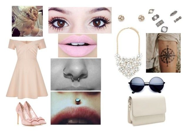 """Almost 9:00 a.m."" by the-name-is-botch ❤ liked on Polyvore featuring River Island, Forever 21 and Fiebiger"