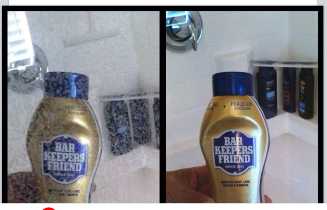 Use Bar Keepers Friend To Remove Hard Water Stains From Glass Shower
