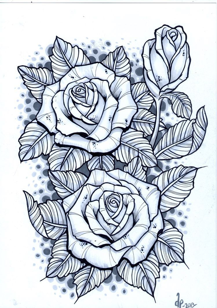 Roses by erica lynn Blue rose tattoos, Rose bud tattoo