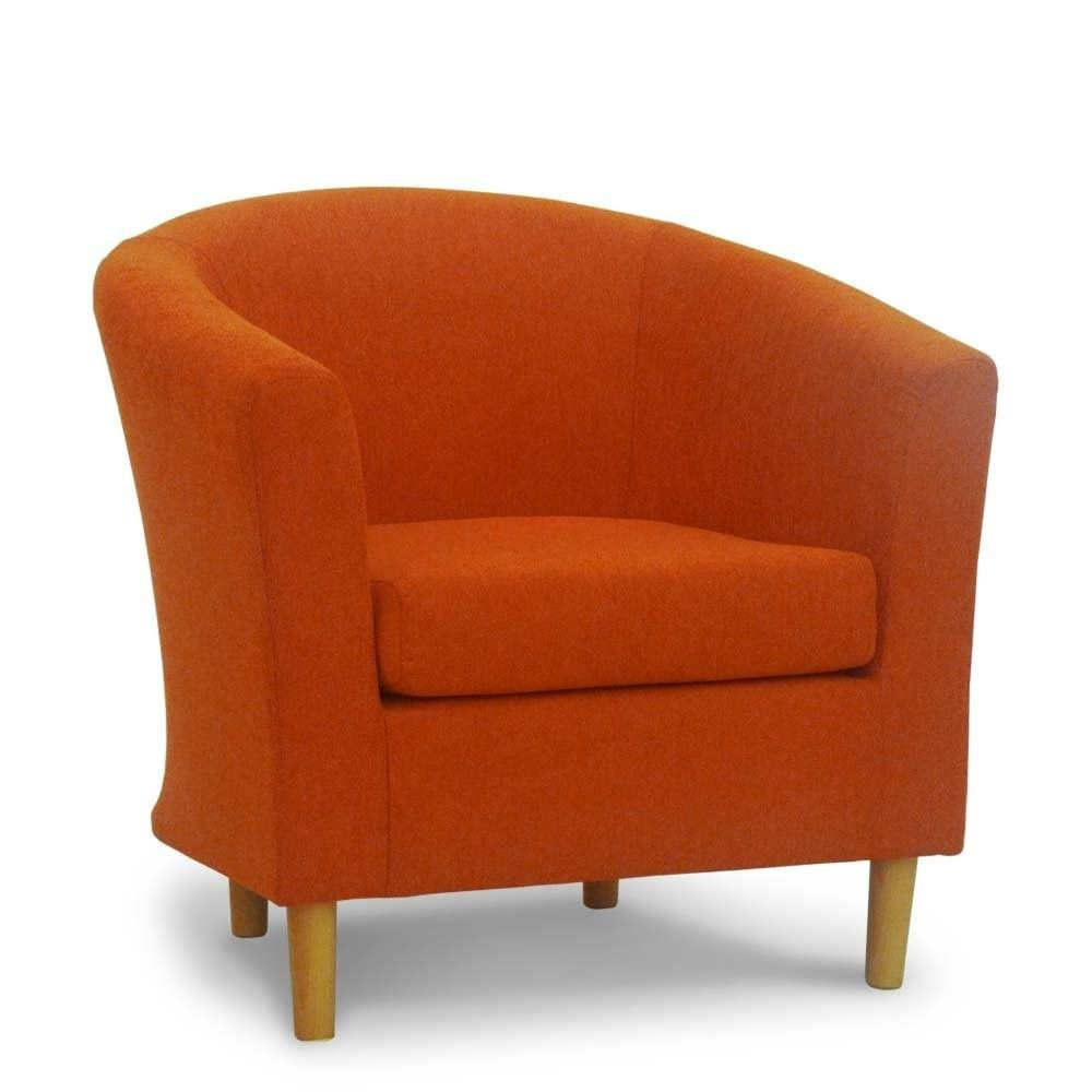 Orange Bucket Chair Macy Stool Grey Riva Sunshine Fabric Tub Sloane Sons Pumpkin