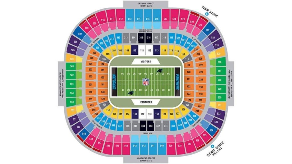 Bank Of America Seating Chart Stadium Seating Seating Charts Bank Of America