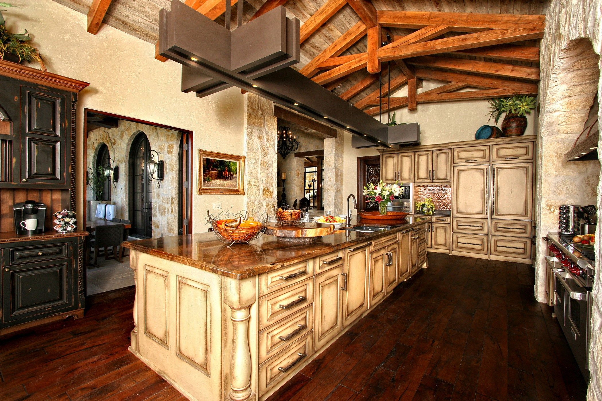 Kitchen Design Austin Rustic Spanish Inspired Kitchen Zbranek Holt Custom Homes Austin .