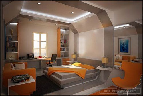 Trendy Comfortable Teenage Bedroom Decoration Idea That Looks Youthful