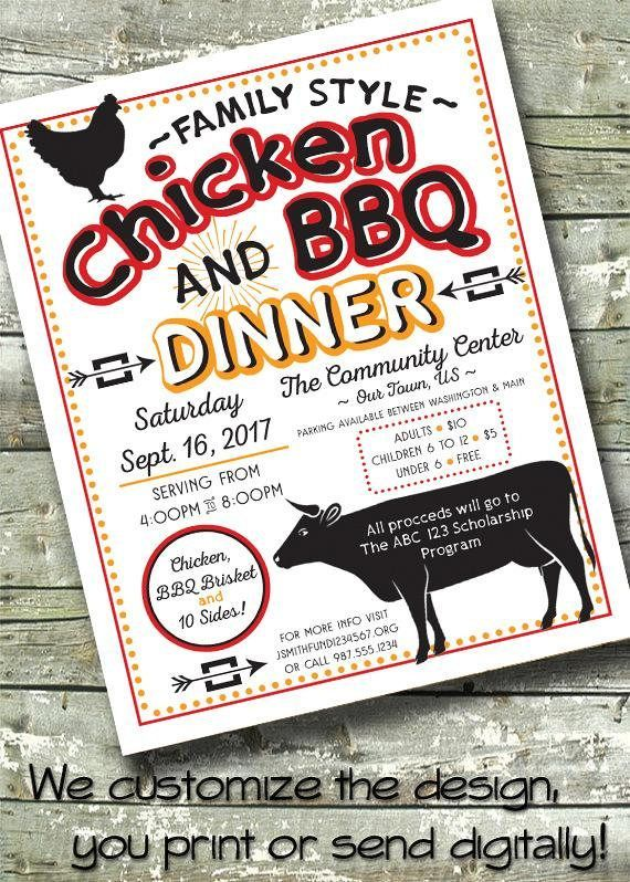 chicken bbq dinner picnic fundraiser brisket chicken 5x7