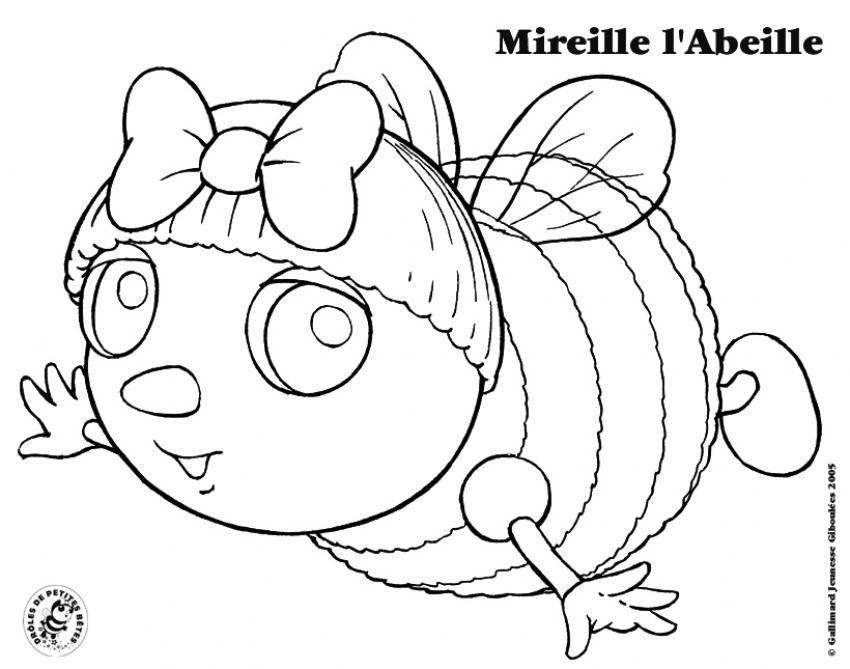 Coloriage Mireille Labeille.Coloriage Droles De Petites Betes Coloriage Mireille L