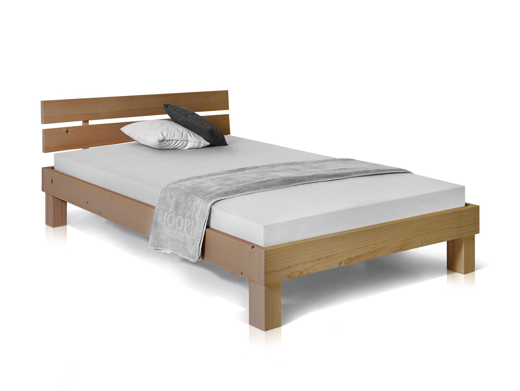 Pumba Massivholzbett Fichte 120x200 Cm Eichefarbig Massivholzbett Bett Massivholz Bett