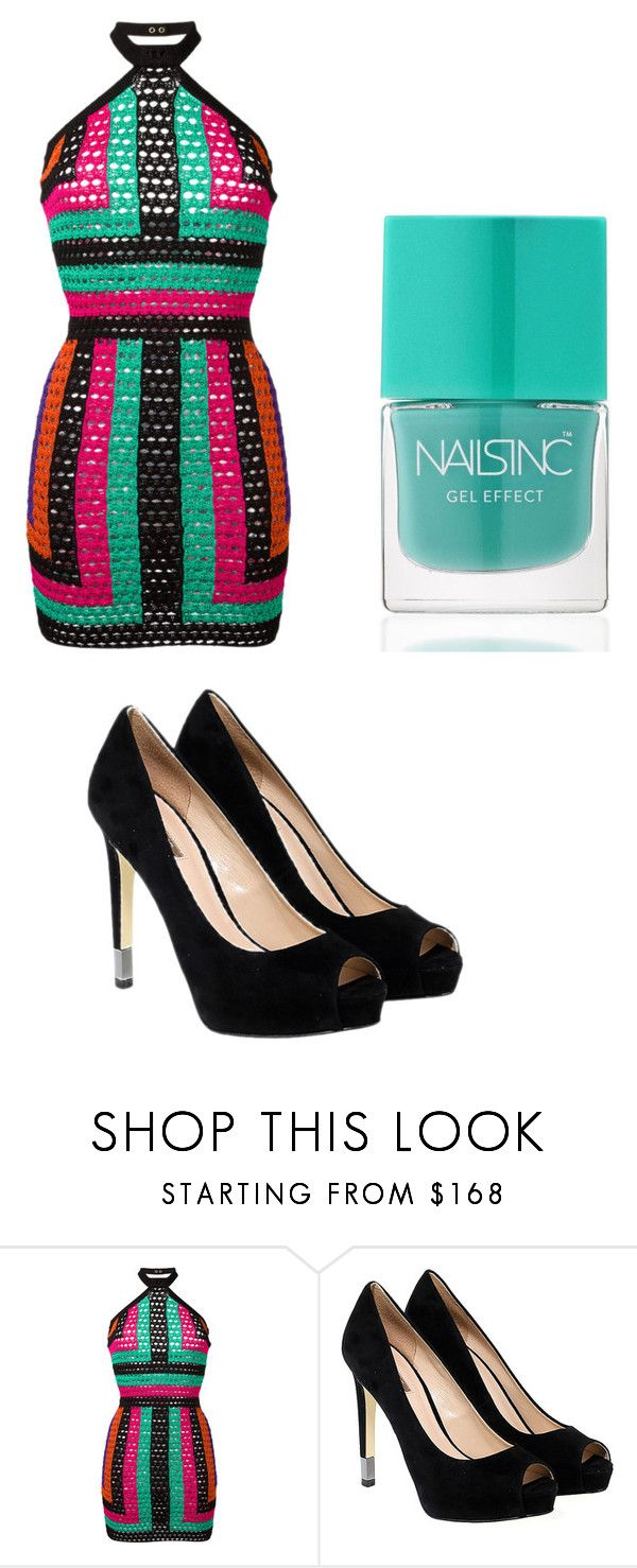 """""""Mina GP VMA Red Carpet"""" by pgrace348 on Polyvore featuring Balmain, GUESS and Nails Inc."""