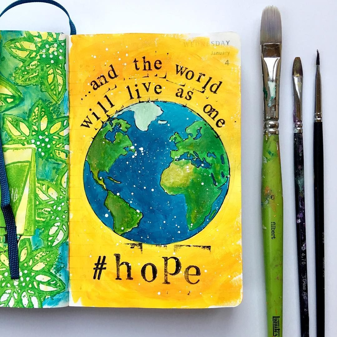 Day 4 of 365 in my daily Molskine. Prompt of the day - Hope Don't give up hope people!